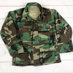 Vintage 80s Army Official Camo Fatigues Military